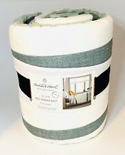 Brand New Hearth and Hand By Magnolia Striped Quilt Green (Twin Size)