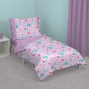 Zutano Elephant Princess 4-Piece Toddler Bed Set - See Details