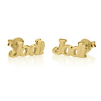 Personalised Earrings Alphabet Initial Gold Plated Silver Sterling Jewelry Gift