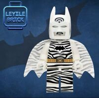 ⎡LEYILE BRICK⎦ Custom Zebra Batman Lego Minifigure