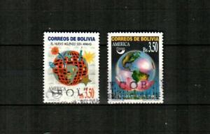 BOLIVIA Scott's 1086-87 ( 2v ) America Issue F/VF Used ( 1999 ) #2