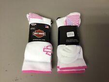 New Women's Harley Davidson All Weather Socks 4 Pair Size Medium Multi #655L