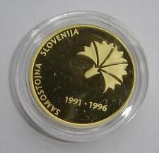 1996 SLOVENIA Gold Coin 5000 Tolarjev , KM# 35 - PROOF - COA BOX , RARE