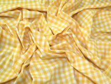 Gingham Chambray Denim Fabric - Sold Per Metre