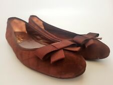 RUSSEL & BROMLEY Soft Padded & Stitched Brown Suede Ballerinas Slip On EU37