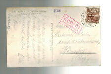 1942 Malleray Switzerland to Henniez Internment Camp Postcard Cover Moron Restar