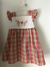 06855abdd4fba B T Kids girls 24 mos pink and green plaid summer dress with underpants NWT