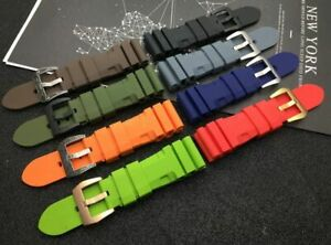 24 26 Silicone Rubber watch band for Panerai PAM Diver Watchband Strap QUALITY!