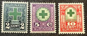 Surinam Semi-Postal Stamps #B1-B3 MLH/MNG Complete Set 1927