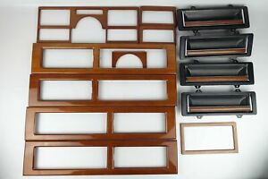 1989-91 Cadillac Deville Fleetwood Woodgrain Trim Plates Instrument Panel Bezel
