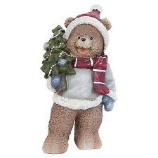 Clayre Eef Bär Dekofigur Deko Weihnachten Nostalgie Vintage Shabby 10*7*20cm