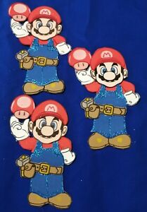 10pcs Super Mario Bros Foamy Decoration For Birthdays, Baby Shower Candy Table