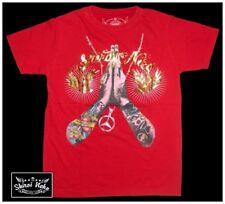 Pray for Hell Minute Mirth Skull T-shirt Shiroi Neko Stone Washed Red Medium 38