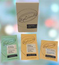 UpCircle You Brew-ty Pamper Kit  Face Serum + Face Scrub + Body Scrub - Free P&P