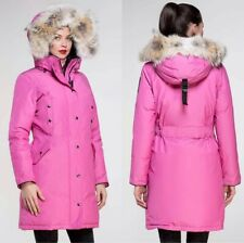 Arctic Bay Charlotte parka jacket down Coyote fur made in Canada Pink  msrp1195$
