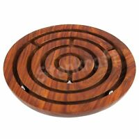 """Pack 1 - 6 """" Handcrafted Wooden Board Game Ball in a Maze Puzzle Toys For Kids"""