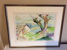 aquarelle signée JD mis sous cadre