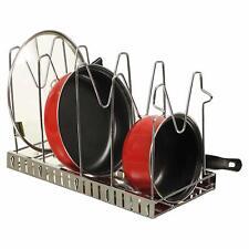 SLIMSHINE Adjustable Multipurpose Pan & Pot Tawa Rack Holder Stand in Steel