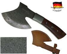 Damast Stahl Axt handgeschmiedet Mittelalter-Beil Fleischerbeil Wikinger Messer
