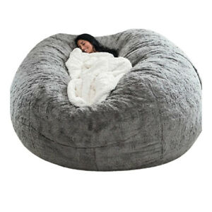 180*90cm Large Bean Bag Sofa Chair Cover Living Room Soft Couch Adults Kids New