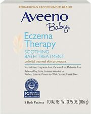 Aveeno Baby Eczema Therapy Soothing Bath Treatment 5-Packs 3.75 oz (106g)