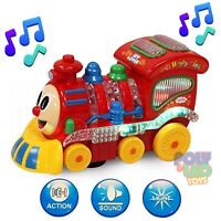 LOCOMOTIVE TRAIN MUSICAL AND LIGHT BUMP GO ACTION KIDS GIFTS