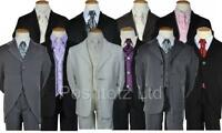 Boys Suit 5pce suits 0-3mth-14-15yr pageboy christening formal, pageboy, wedding