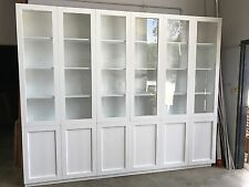 Aus Made White Painted Vista Library Wall Unit Bookcase