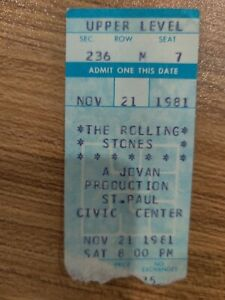 CHECK IT OUT! The Rolling Stones 1981 Ticket Stub! #2/166