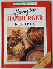 Hardback Recipe Book  Hurry Up Hamburger Recipes  Over 100 Recipes