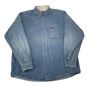 Marlboro Classics Blue Long Sleeve Soft Denim Shirt - Mens XL