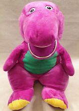 "Barney the Dinosaur Large Plush Soft Toy Lyons 2007 Huge Barney Plush 24"" Tall"