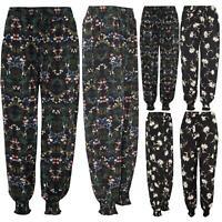 Womens Ali Baba Harem Floral Printed Trousers Pants Leggings Ladies Baggy Hippy