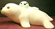 White Seal with her Pup Figurine Ftd Collector's Series