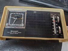 vintage sharp FXC-12 Clock Radio, white Bakelite case