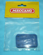 Six Meccano plastic plates, part 194, blue, in original factory pack