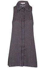 Petite Geometric Sleeveless Dresses for Women