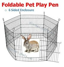 Foldable Pet Play Pen Animal Enclosure Cage Chicken Duck Rabbit Bolted Latches