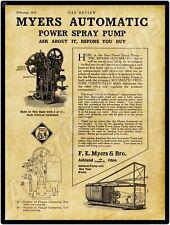 "Ships Free Meyers Bulldozer Pump 1910 F.E 6 x 18/"" Long Engine New Metal Sign"