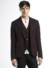 $3390 NEW Gucci Runway Sketch-printed Flannel DANDY Jacket, 54R/US 44R, #296845