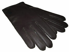 Ralph Lauren Polo Mens M 8 Dark Brown Leather Lambswool Dress Gloves Medium