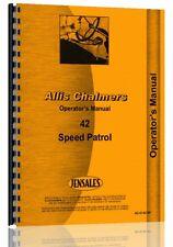 Allis Chalmers 42 Motor Grader Operators Manual