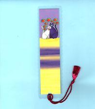 Handmade Bookmark Tassel White Kitten Pussy Feline Pet Cat Lover Xmas Gift