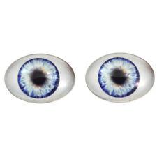 Large 30x40mm Oval Glass Eyes Set in Blue - Big Doll Making Eye Cabs Flatback