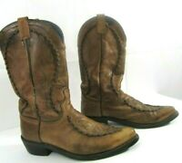 Dan Post Men's Brown Leather Boots Cowboy Motorcycle Western 26644 Size 10D