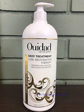 Ouidad Deep Treatment Curl Restoration Therapy 33.8oz LITER W/ PUMP -NEW & FRESH