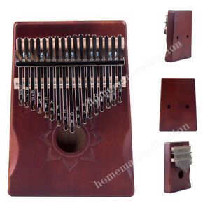 17 Key Kalimba Thumb Piano Finger Mbira Mahogany Wood Keyboard Music Instruments