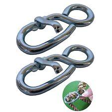 2x Stellacht mit Klappe zur Längenregulierung von Seilen 6 x 70 mm Seilklemmen