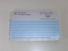 Owner's Manual / Betriebsanleitung Buick Century (Estate Wagon) / Regal von 1981