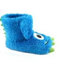 Toddler Boys Blue Monster Claw Foot Slippers 5/6, 9/10, 11/12